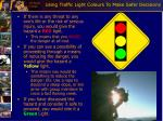 using traffic light colours to make safer decisions