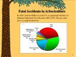 fatal accidents in arboriculture