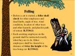 felling