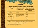 table 1 minimum clearance distances for equipment