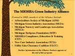 the miosha green industry alliance