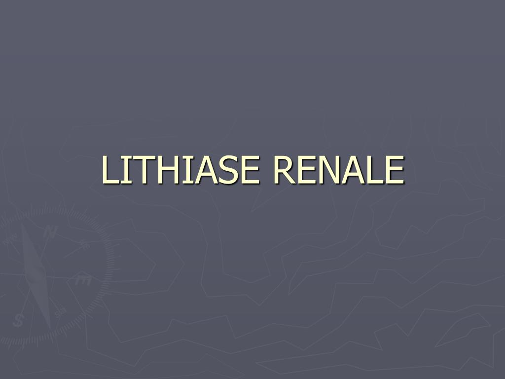 lithiase renale l.