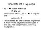 characteristic equation