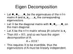 eigen decomposition