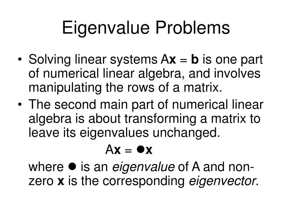 eigenvalue problems l.