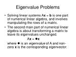 eigenvalue problems