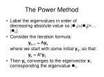 the power method
