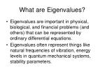 what are eigenvalues
