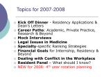 topics for 2007 2008