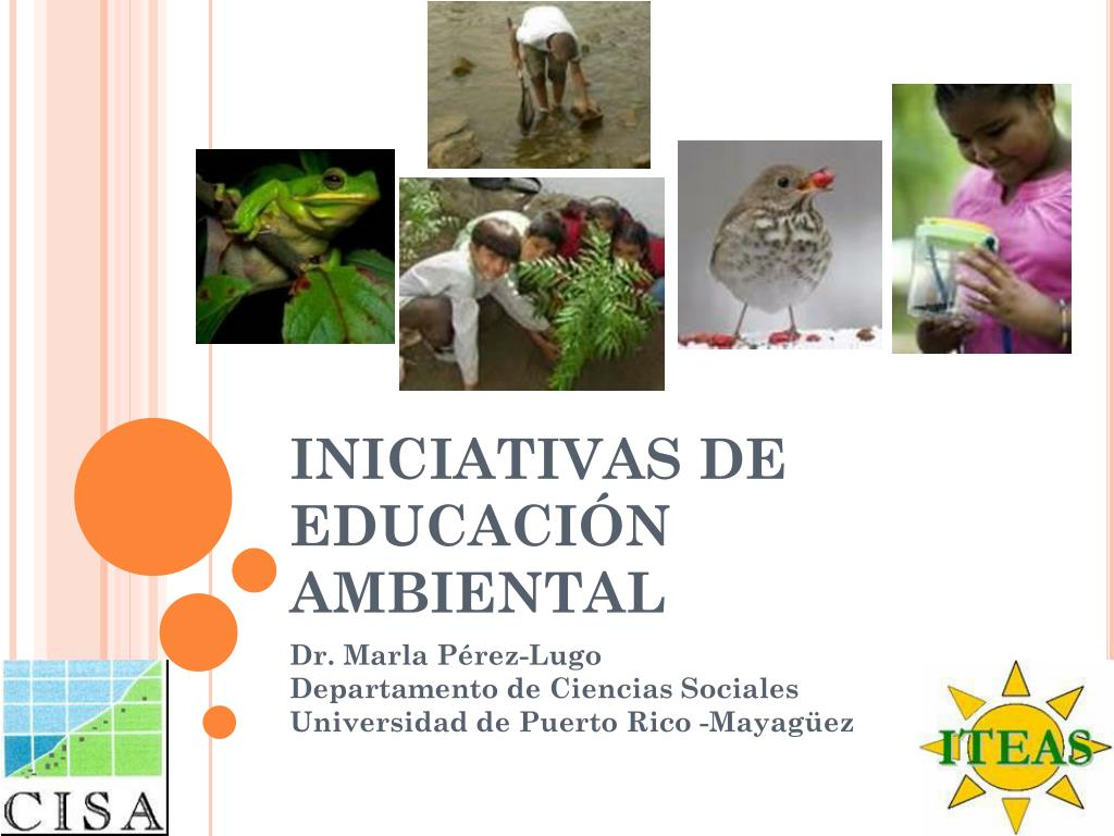 iniciativas de educaci n ambiental l.