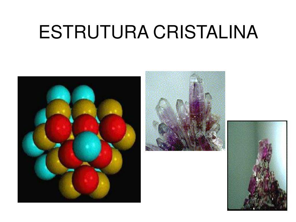 estrutura cristalina l.