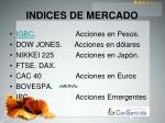 indices de mercado