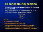 el concepto keynesiano