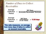 number of days to collect receivables