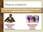 purpose of analysis
