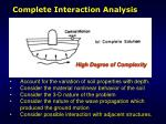 complete interaction analysis