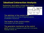idealized interaction analysis12