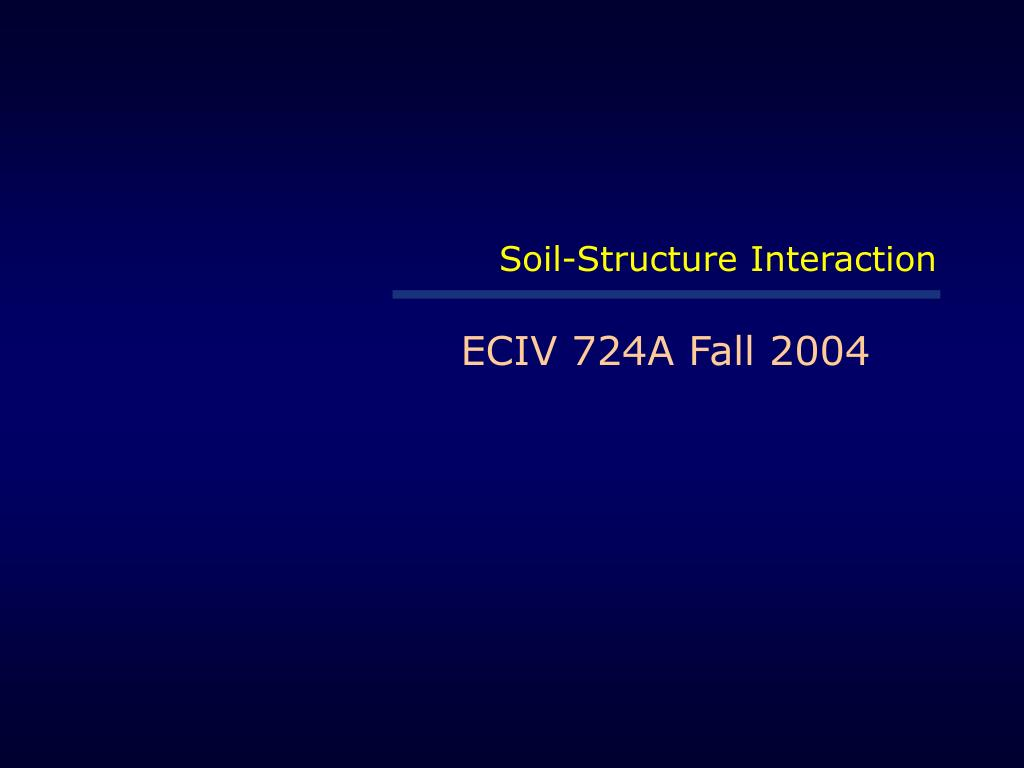 soil structure interaction l.