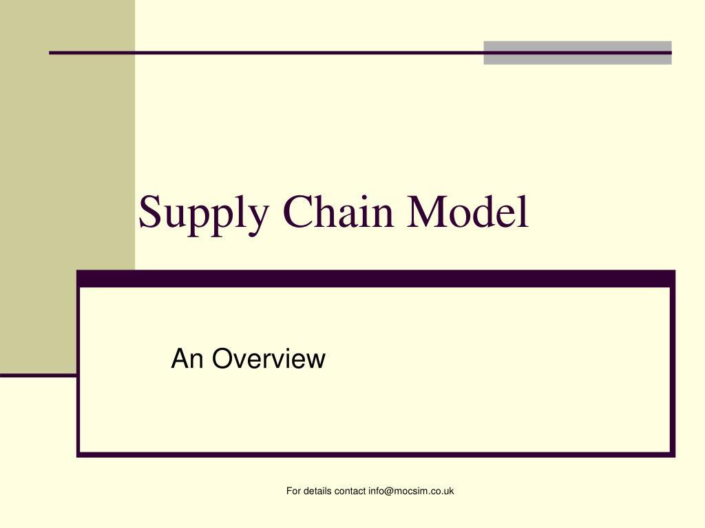 supply chain model l.