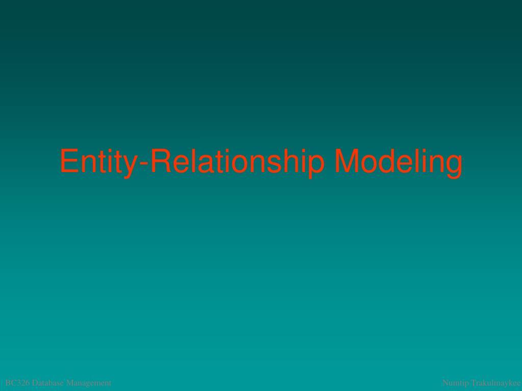 entity relationship modeling l.