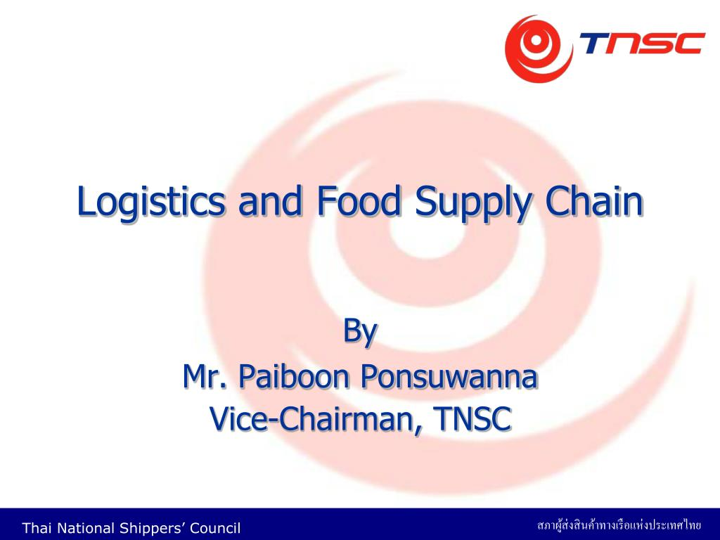 logistics and food supply chain l.