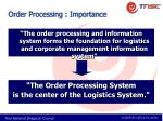 order processing importance