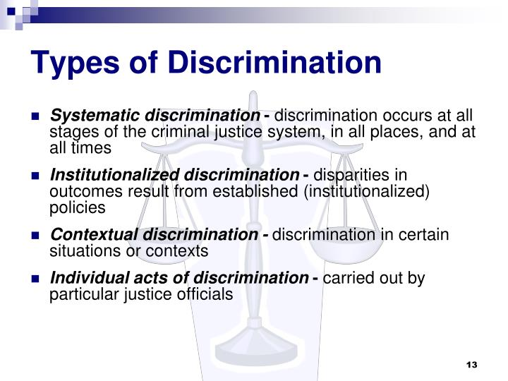 disparity vs discrimination in the justice Cover art: in the current child welfare and juvenile justice systems, some racial  and ethnic communities are  versus white children in the population who had  contact  institutional racism may explain placement disparity.