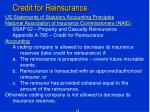 credit for reinsurance