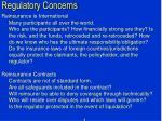 regulatory concerns