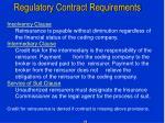 regulatory contract requirements