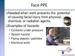 face ppe