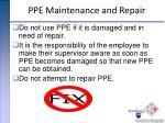 ppe maintenance and repair