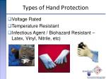 types of hand protection22