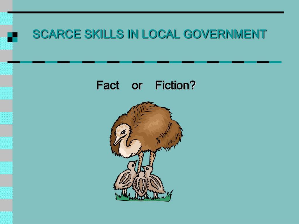 SCARCE SKILLS IN LOCAL GOVERNMENT