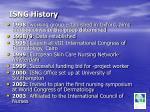 isng history