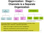 organization stage i channels is a separate organization