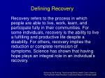defining recovery5