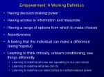 empowerment a working definition