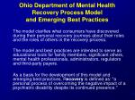 ohio department of mental health recovery process model and emerging best practices24