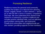 promoting resilience