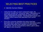 selecting best practices38