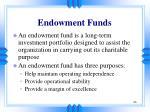 endowment funds