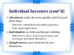 individual investors cont d21