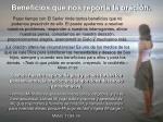 beneficios que nos reporta la oraci n