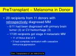 pretransplant melanoma in donor