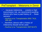 pretransplant melanoma in donor42
