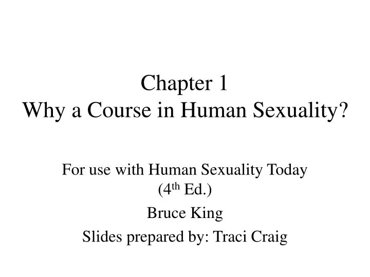 chapter 1 why a course in human sexuality n.