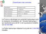 classification des centrales