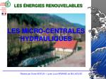 les micro centrales hydrauliques