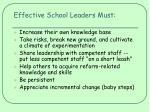 effective school leaders must